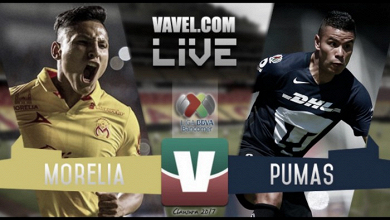 Resultado y goles del Morelia 4-0 Pumas de la Liga MX 2017