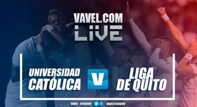 Universidad Católica domina todos los aspectos del juego y golea 3-0 a Liga de Quito