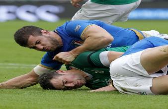 Un'immagine di Irlanda-Italia dell'ultimo Sei Nazioni (@Federugby)
