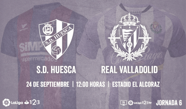 Previa S.D. Huesca- Real Valladolid: continuar en lo más alto de la tabla