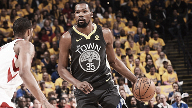 Kevin Durant. Fonte: Golden State Warriors/Twitter