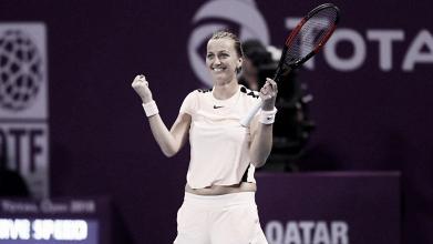 Kvitova vira contra Muguruza, é campeã em Doha e volta ao top 10