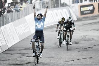 Landa da la primera exhibición con Movistar ganando la etapa reina de Tirreno