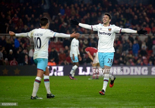 Middlesbrough 1-3 West Ham United: Player ratings as the Hammers take three points back to East London