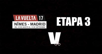 Nibali gana la tercera etapa de la Vuelta a España, Esteban Chaves fue quinto y Froome se viste de rojo