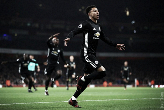 L'esultanza di Jesse Lingard. | Fonte immagine: twitter Manchester United