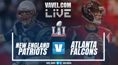 Resultado Atlanta Falcons 28-34 New England Patriots no Super Bowl 2017
