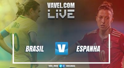 RESULTADO Brasil 2x1 Espanha em amistoso internacional do futebol feminino