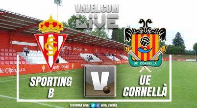 Resumen Sporting B 2-0 Cornellà en playoff ascenso Segunda B (2-0)
