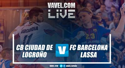 Resumen Ciudad de Logroño vs Barcelona Lassa en Liga Loterías ASOBAL (25-32)