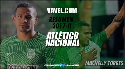 Atlético Nacional Resumen 2017-II: Macnelly Torres, sacrificado por el sistema táctico y la idea deportiva