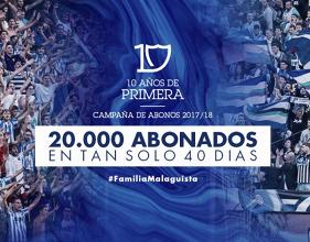 El Málaga CF, a punto de batir su propio récord de abonados
