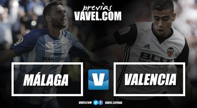 Previa Málaga CF - Valencia CF: reinventarse o morir