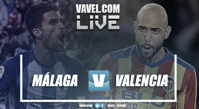 Málaga CF vs Valencia CF en vivo y en directo online en LaLiga 2018