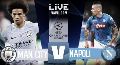 Terminata Manchester City - Napoli, LIVE Champions League 2017/18 (2-1): Sterling-Jesus gol