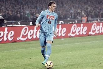Manolo Gabbiadini con la maglia del Napoli