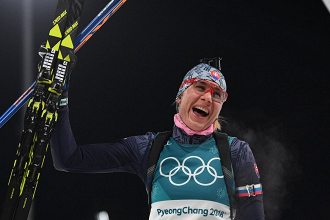 Anastasia Kuzmina, championne olympique de la Mass Start