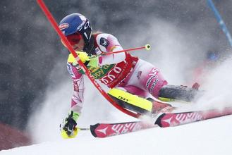 Flachau 2017, Slalom Femminile di Sci Alpino: 2° manche, Shiffrin davanti