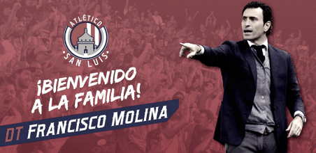 José Francisco Molina, nuevo DT del Atlético de San Luis