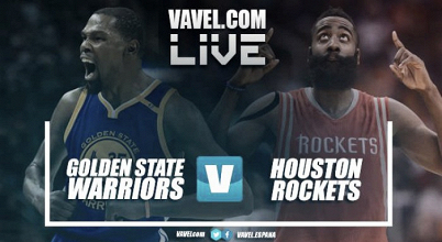 Golden State Warriors vs Houston Rockets en vivo y en directo online en NBA 2017/18 (121-122)