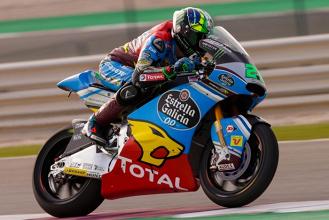 Moto2 - Guizzo Morbidelli in FP3 a Valencia, Oliveira insegue