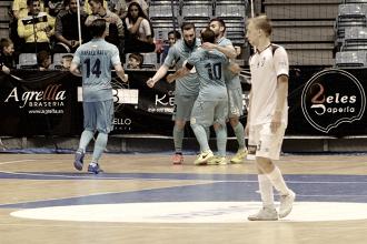 Movistar Inter impone su calidad ante un buen Santiago Futsal