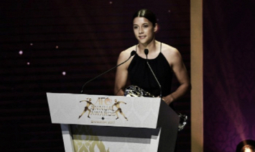 Sam Kerr wins the AFC Player of the Year