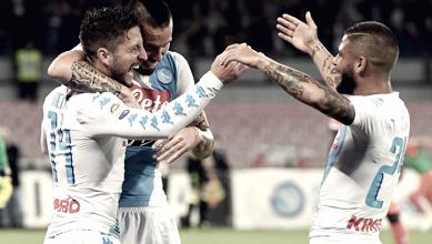 Napoli, gol e sorrisi: la soddisfazione di Sarri ed Hamsik dopo il poker alla Fiorentina