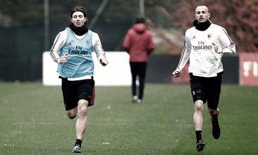 Milan, al lavoro per preparare la sfida contro il Napoli