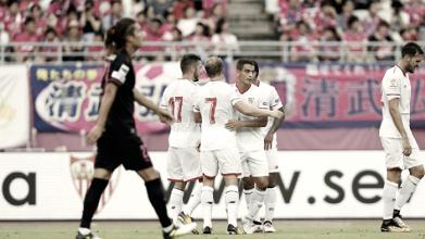 Victoria del Sevilla ante el Cerezo Osoka: Ben Yedder destaca, los nuevos aportan