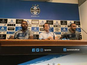 Grêmio apresenta Paulo Miranda e Thaciano como reforços para 2018