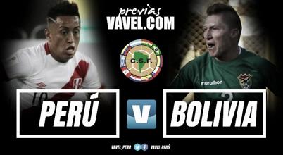 Previa Perú -Bolivia: La 'bicolor' recibe a la 'verde' con la mente puesta en volver a la carrera