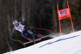 Sci Alpino, Aspen - Discesa libera maschile, Fill all'attacco di Jansrud. I pettorali
