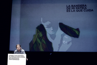Acto de unidad en Podemos ante la crisis catalana