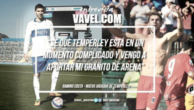 """Ramiro Costa: """"Quiero darle tranquilidad al hincha con mis goles"""""""