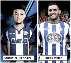 Lucas Pérez vs Munir El Haddadi: sus equipos necesitan sus goles
