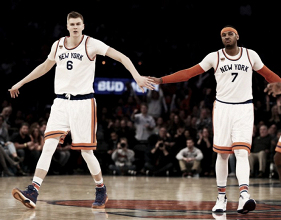 Kristaps Porzingis is Cleveland Cavaliers' target in Kyrie Irving trade talks