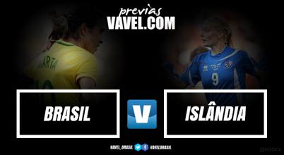 Brasil e Islândia medem forças pela primeira vez na história do futebol feminino