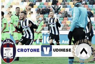 Serie A - Il Crotone allo Scida si gioca le ultime chance di salvezza contro l'Udinese