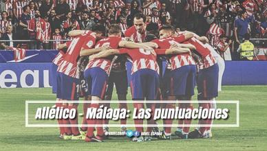 Atlético de Madrid - Málaga CF: puntuaciones del Atlético, jornada 4 de la Liga Santander