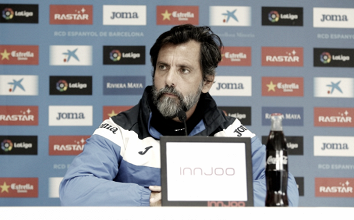 """Quique Sánchez Flores: """"Queremos ser el primer equipo en derribar al Valencia"""""""