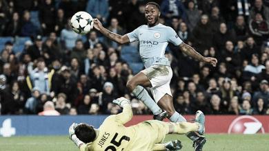 Il tocco sotto delizioso con cui Sterling ha deciso il match tra City e Feyenoord. Fonte foto: Champions League | Twitter.