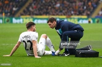 Swansea dealt blow as it's revealed that Angel Rangel broke foot against Hull