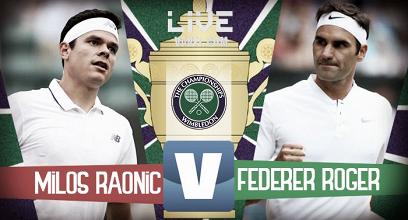 Risultato Milos Raonic - Roger Federer in diretta, LIVE Wimbledon 2017 (0-3)