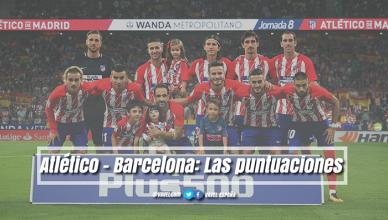 Atlético de Madrid - Barcelona: puntuaciones Atleti, jornada 8ª jornada de LaLiga