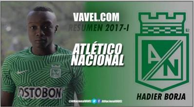 Resumen 2017-I Atlético Nacional: Hadier Borja, juvenil para tener en cuenta