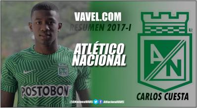 Resumen 2017-I Atlético Nacional: Carlos Cuesta, la revelación en la zaga 'verde'