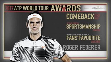 Atp Awards 2017, domina Roger Federer