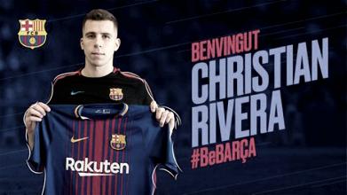 Christian Rivera parte hacia la ciudad condal