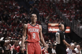 Rajon Rondo, 21 assist in gara-3 contro i Warriors. Fonte: New Orleans Pelicans/Twitter